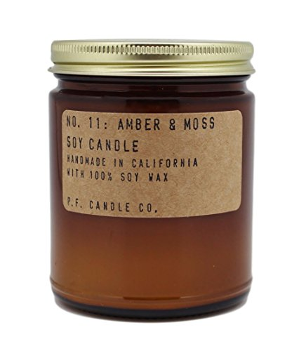 p.f. Candle Co。 – No。11 : Amber & Moss Soy Candle 7.2 oz ホワイト 0855111006034