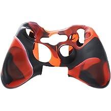 SODIAL(R) シリコンカバーケーススキン Xbox 360コントローラーの為 迷彩赤+黒