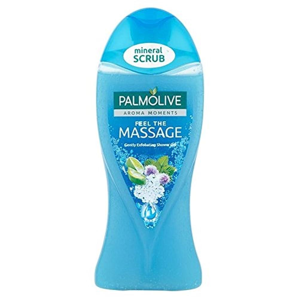 溢れんばかりのパス反論者パルモシャワージェルマッサージ250ミリリットル x4 - Palmolive Shower Gel Massage 250ml (Pack of 4) [並行輸入品]