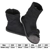NuoYa001 Naruto Shippuuden Cosplay Costume Accessories - Black Ninja Shoes / Sandals 44 (US 10.5)