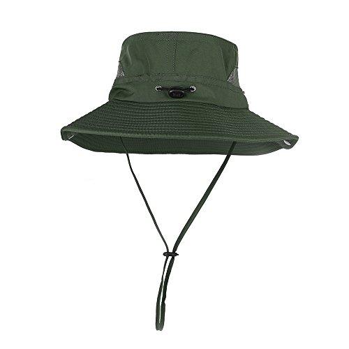 HoneyView ハット 日よけ帽子uvカット 紐付き可調節 軽量 日焼け止め メッシュ 通気性抜群 純色 フィッシング帽子 キャンプ ハイキング 観光 登山 釣り自転車 旅行 アウトドア 紫外線対策 熱中症対策帽子 メンズ レディース兼用 サファリハット 大きいサイズ つば広