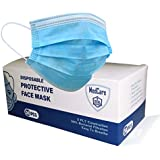MEDCARE Face Mask Disposable 50Pcs Box, 3 Layers Breathable Earlooped (Plastic Seal), Shipped from Australia