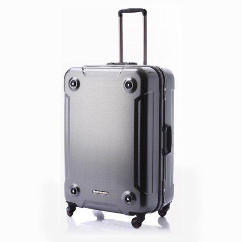 ヒデオワカマツ スーツケース 新サイレントキャスター スタッキング機能付き カーボンシルバー