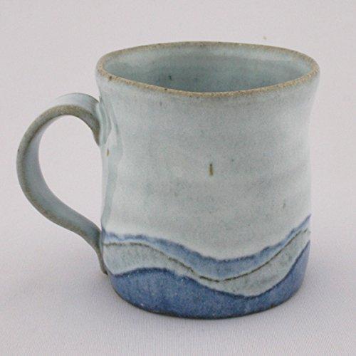 熊本千治(Chiharu Kumamoto) 彩白マグカップ 大 唐津焼 陶器(直径約9cm 高さ約8.8cm)