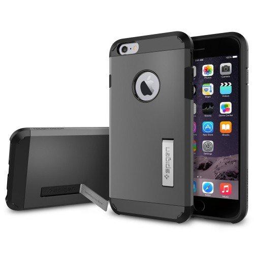 iPhone 6 Plus ケース Spigen [エアクッションテクノロジー] タフ・アーマー Apple iPhone (5.5) (国内正規品) (ガンメタル 【SGP11053】)