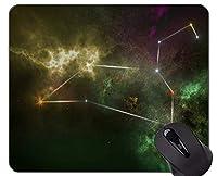 マウスパッド滑り止め、星座、星占いのイラスト、ゴム製マウスパッドの占星術テーマ.