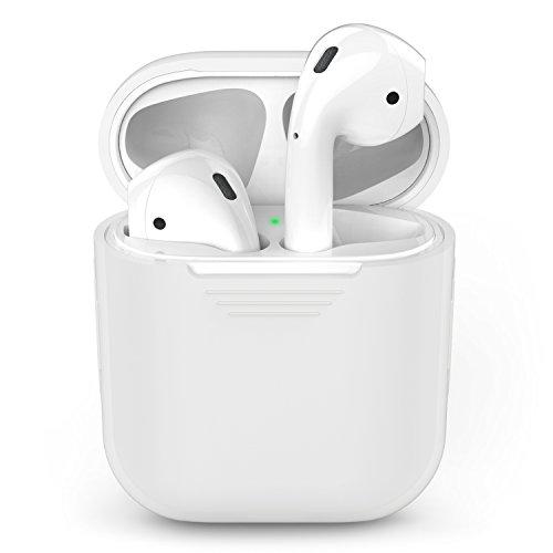 AirPodsケース、AppleワイヤレスイヤホンAirPod用AhaStyleシリコンショックプルーフ保護カバー (クリア)