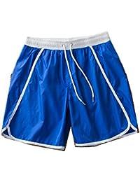 メンズスイムトランク クールサーフィンスイミングトランク ビーチスポーツスイムトランク レジャービーチスイムトランク (色 : Royal blue, サイズ : XXXL)