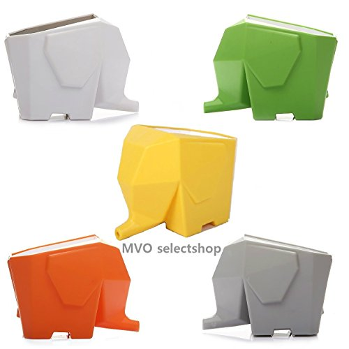 【MVO selectshop】 可愛い ゾウさん カトラリードレイナー 歯ブラシスタンド 幸運のお守り 風水 アジアン雑貨 (グレー)