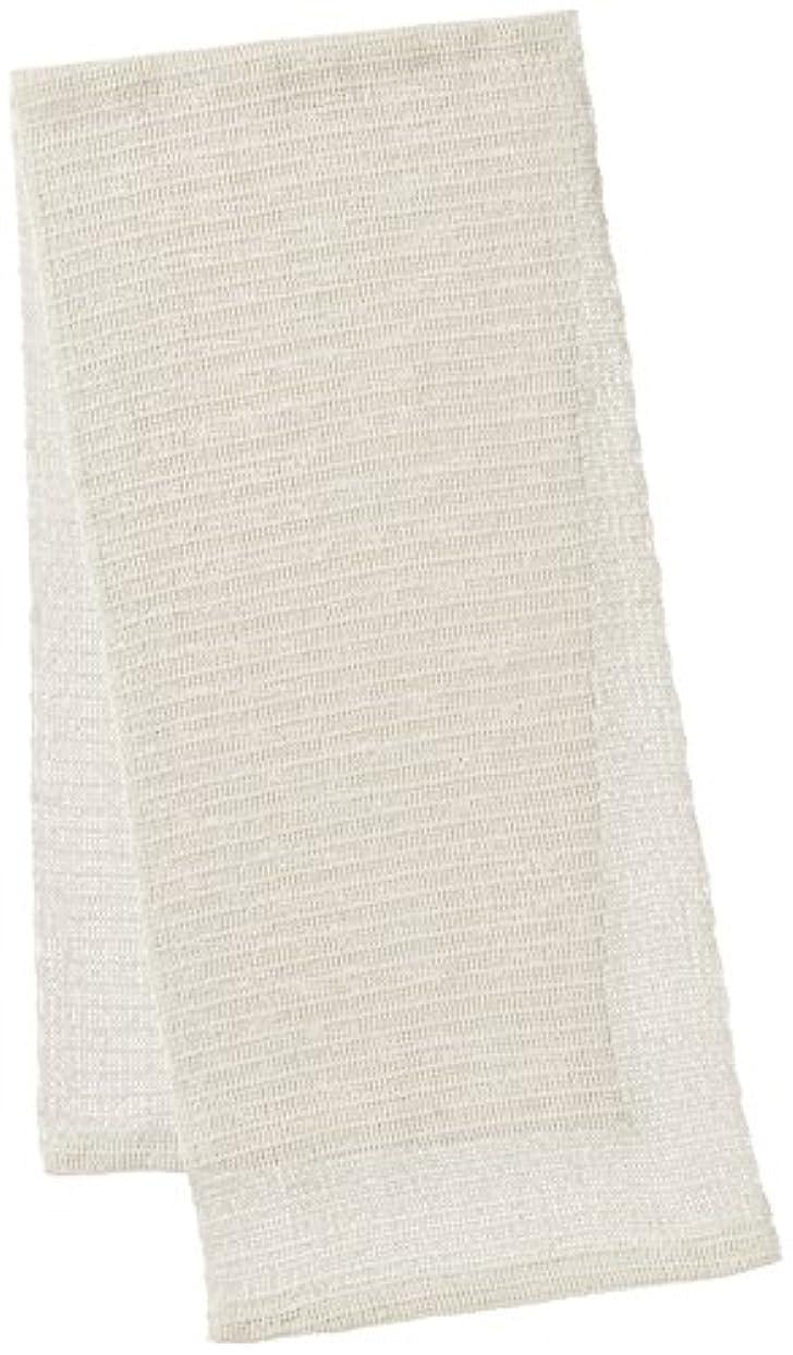 アッパー批判ラメオーエ CN 絹タオル ホワイト 25×100cm
