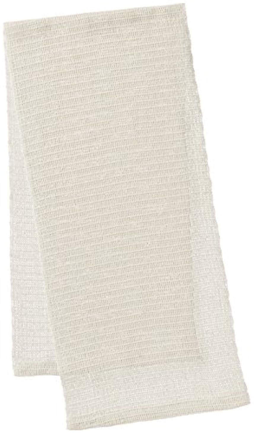 住居忌み嫌う印刷するオーエ CN 絹タオル ホワイト 25×100cm