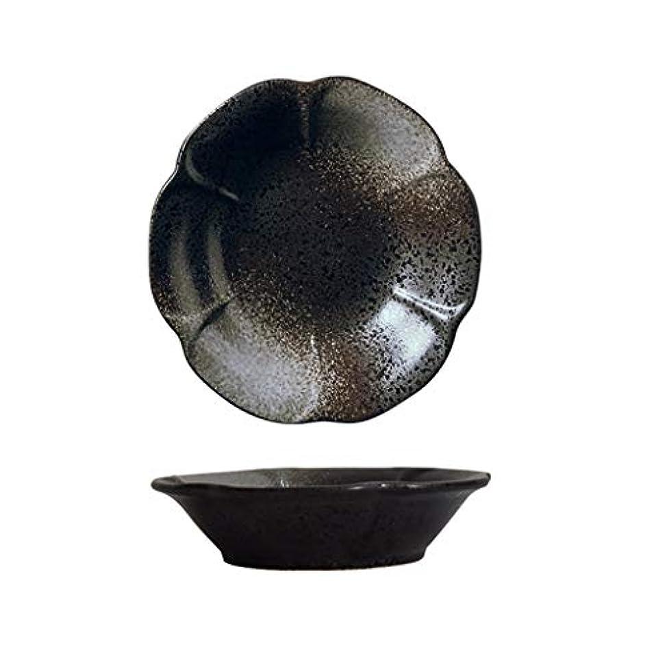 上がる農学章寿司プレート レストランセラミック皿、フラワーセラミックプレートスナックセラミックプレートコールドディッシュセラミックディッシュサイズ20.5 * 20.5 * 4.5CM サラダプレート (色 : A, サイズ さいず : 20.5*20.5*4.5CM)