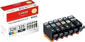 Canon インク カートリッジ 純正 BCI-326(BK/C/M/Y/GY)+BCI-325 6色マルチパック BCI-326+325/6MP