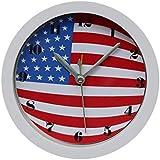 Vithconl フェスティバル アメリカ国旗 デスク クリエイティブ デジタル 目覚まし時計 7月4日 12cm x 12cm / 4.68インチ x 4.68インチ
