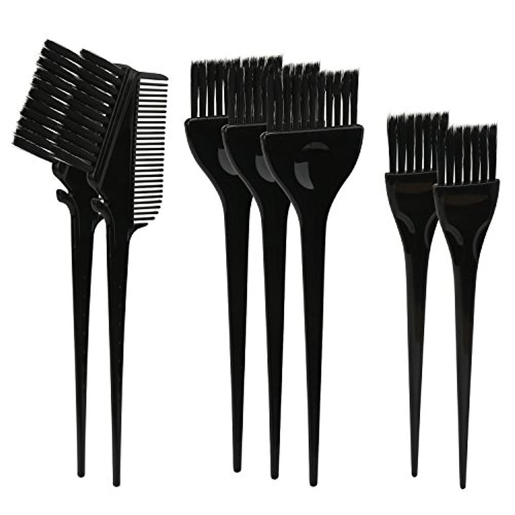 気まぐれなクラフト馬鹿Segbeauty ヘアカラー DIY プロ髪染め用のブラシ 7pcs 美髪師用 サロン工具セット