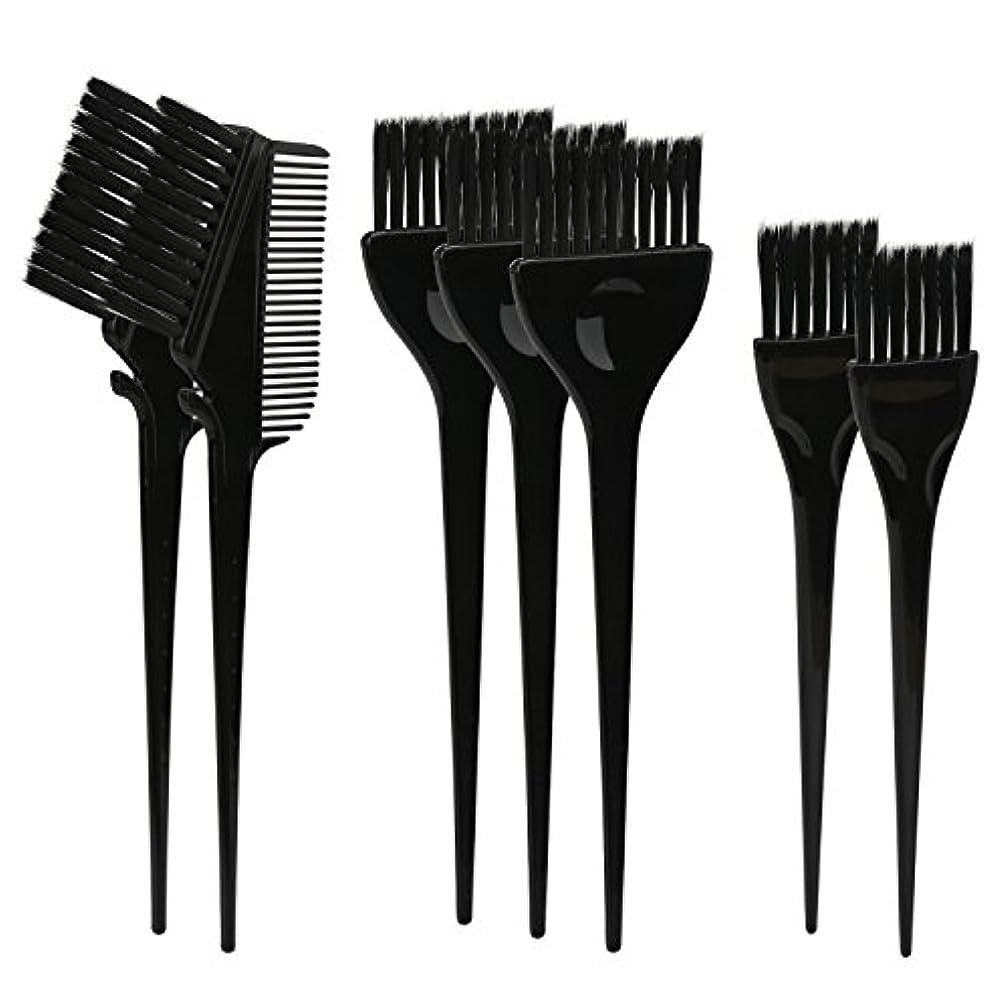 ワードローブ足首作るSegbeauty ヘアカラー DIY プロ髪染め用のブラシ 7pcs 美髪師用 サロン工具セット