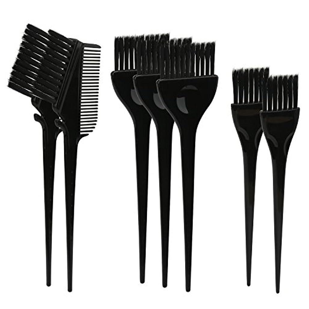 羽刃ネストSegbeauty ヘアカラー DIY プロ髪染め用のブラシ 7pcs 美髪師用 サロン工具セット