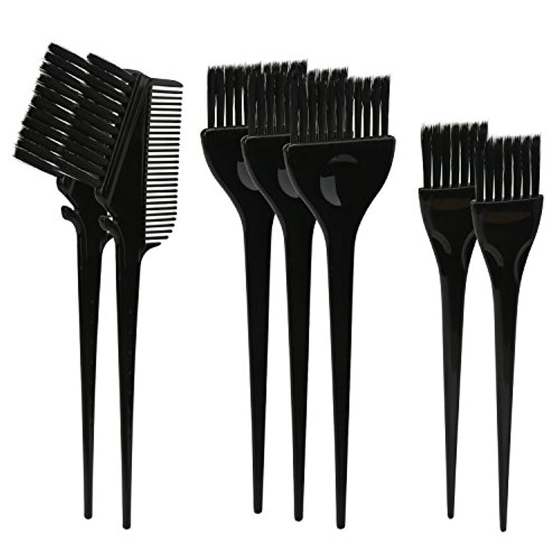 モットー狂乱ピアニストSegbeauty ヘアカラー DIY プロ髪染め用のブラシ 7pcs 美髪師用 サロン工具セット