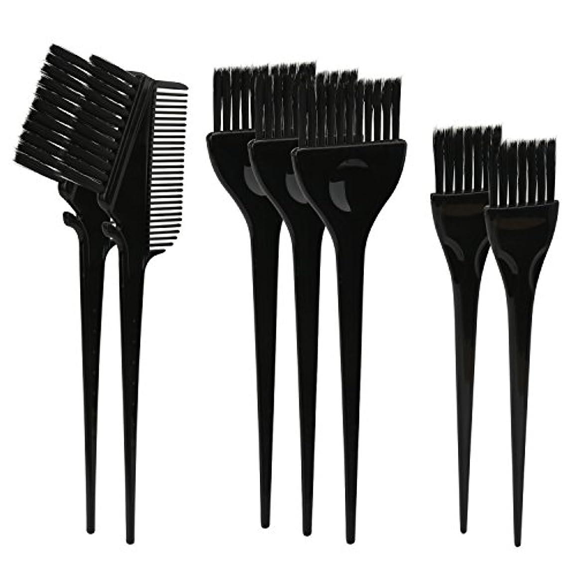 なにとても発明するSegbeauty ヘアカラー DIY プロ髪染め用のブラシ 7pcs 美髪師用 サロン工具セット