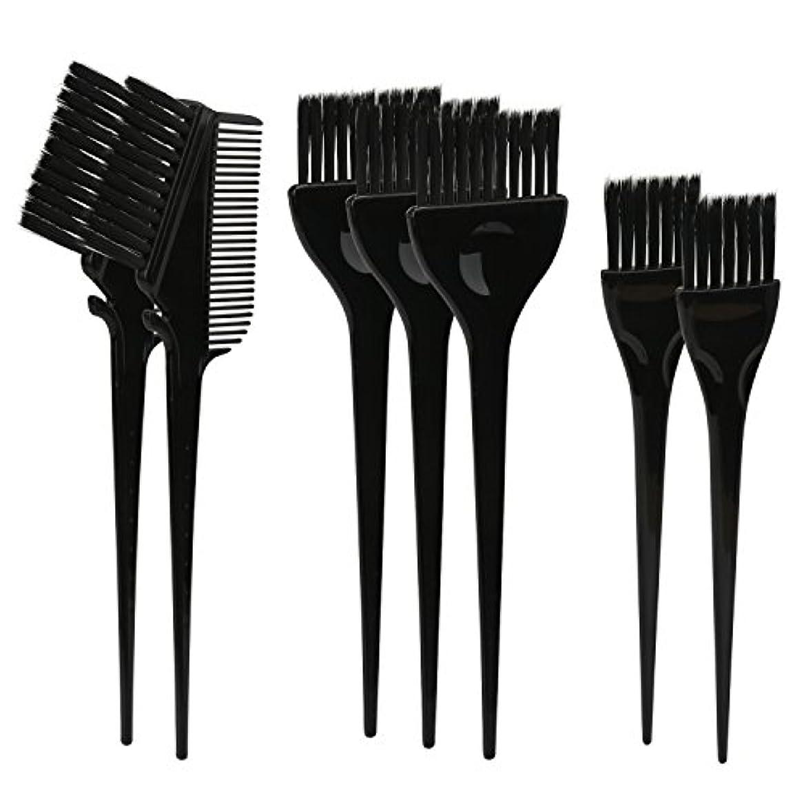 見かけ上別れるブルSegbeauty ヘアカラー DIY プロ髪染め用のブラシ 7pcs 美髪師用 サロン工具セット