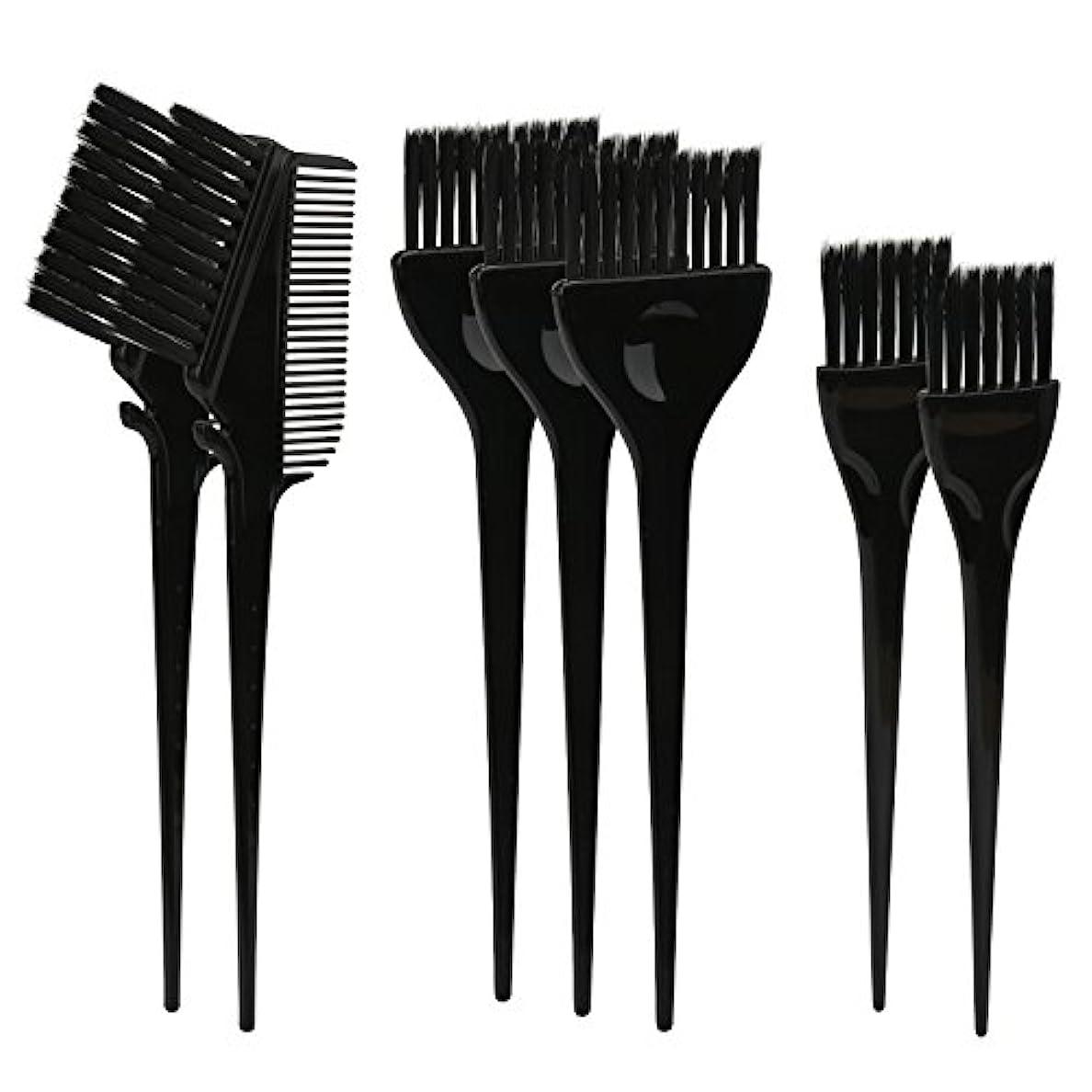不確実パンチ名目上のSegbeauty ヘアカラー DIY プロ髪染め用のブラシ 7pcs 美髪師用 サロン工具セット
