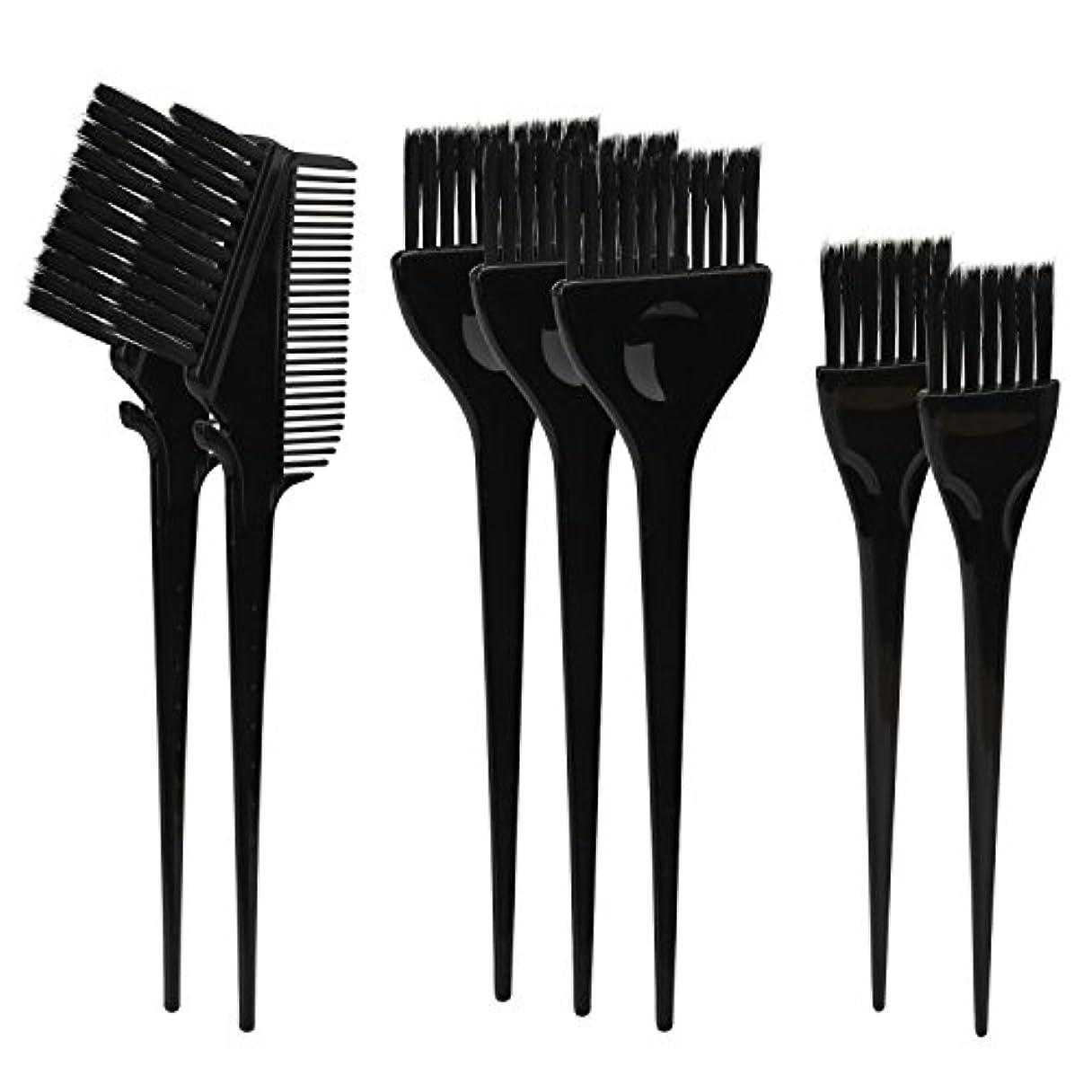 エピソード扇動する利得Segbeauty ヘアカラー DIY プロ髪染め用のブラシ 7pcs 美髪師用 サロン工具セット
