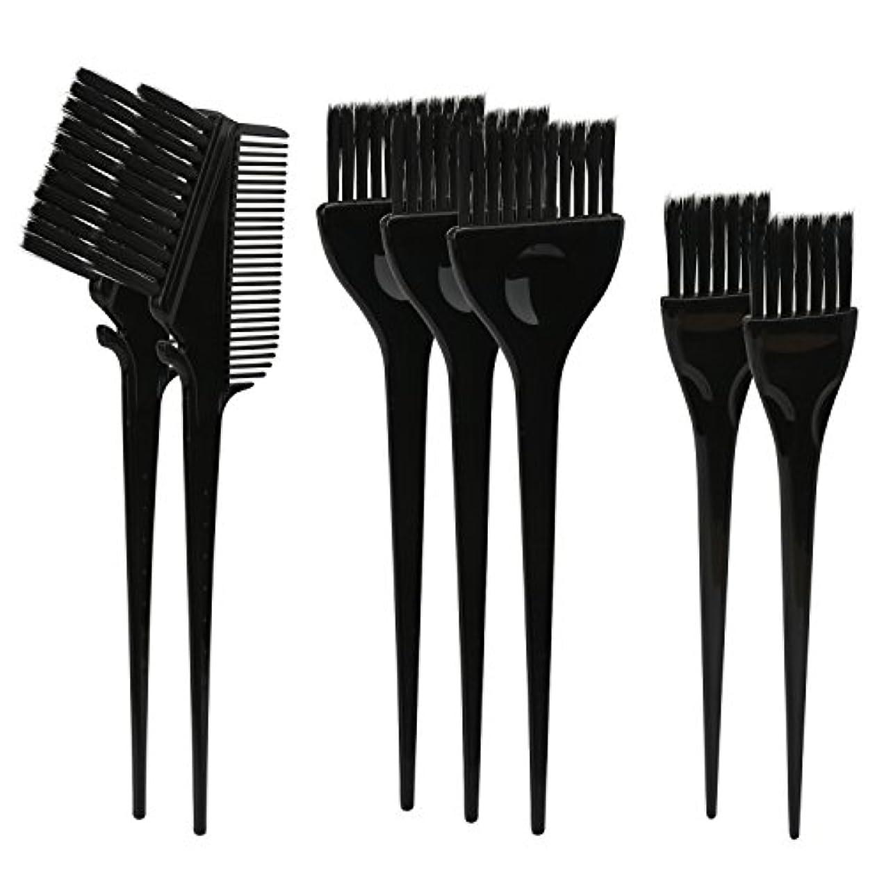 ハンバーガー人種床を掃除するSegbeauty ヘアカラー DIY プロ髪染め用のブラシ 7pcs 美髪師用 サロン工具セット