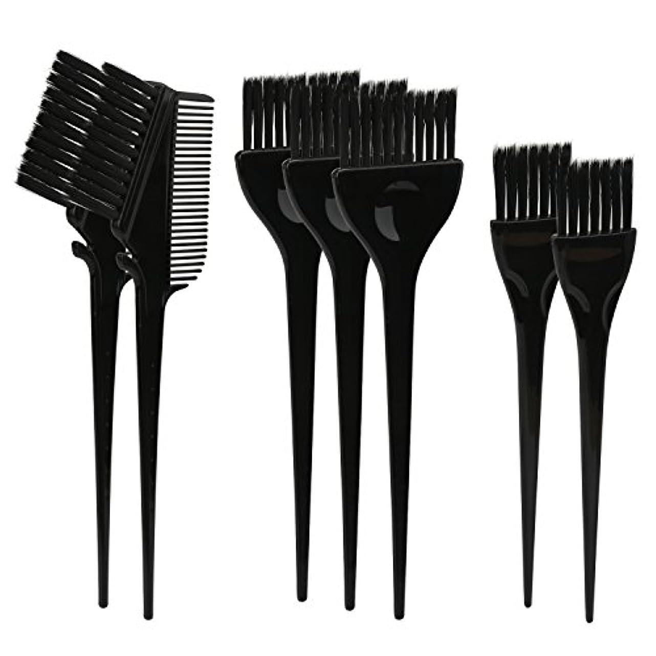 葉巻哀れな農業のSegbeauty ヘアカラー DIY プロ髪染め用のブラシ 7pcs 美髪師用 サロン工具セット
