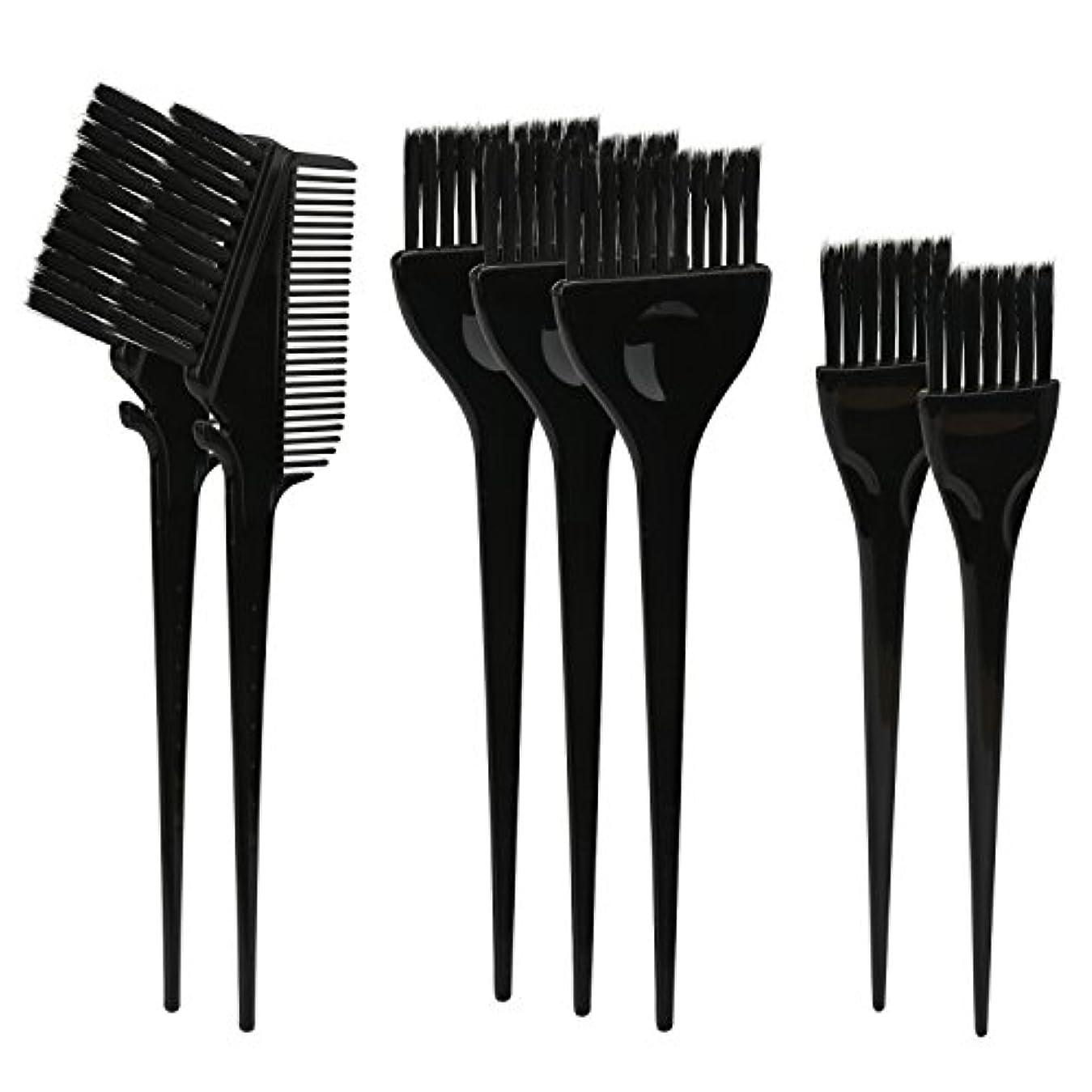 手紙を書く精神医学ぜいたくSegbeauty ヘアカラー DIY プロ髪染め用のブラシ 7pcs 美髪師用 サロン工具セット