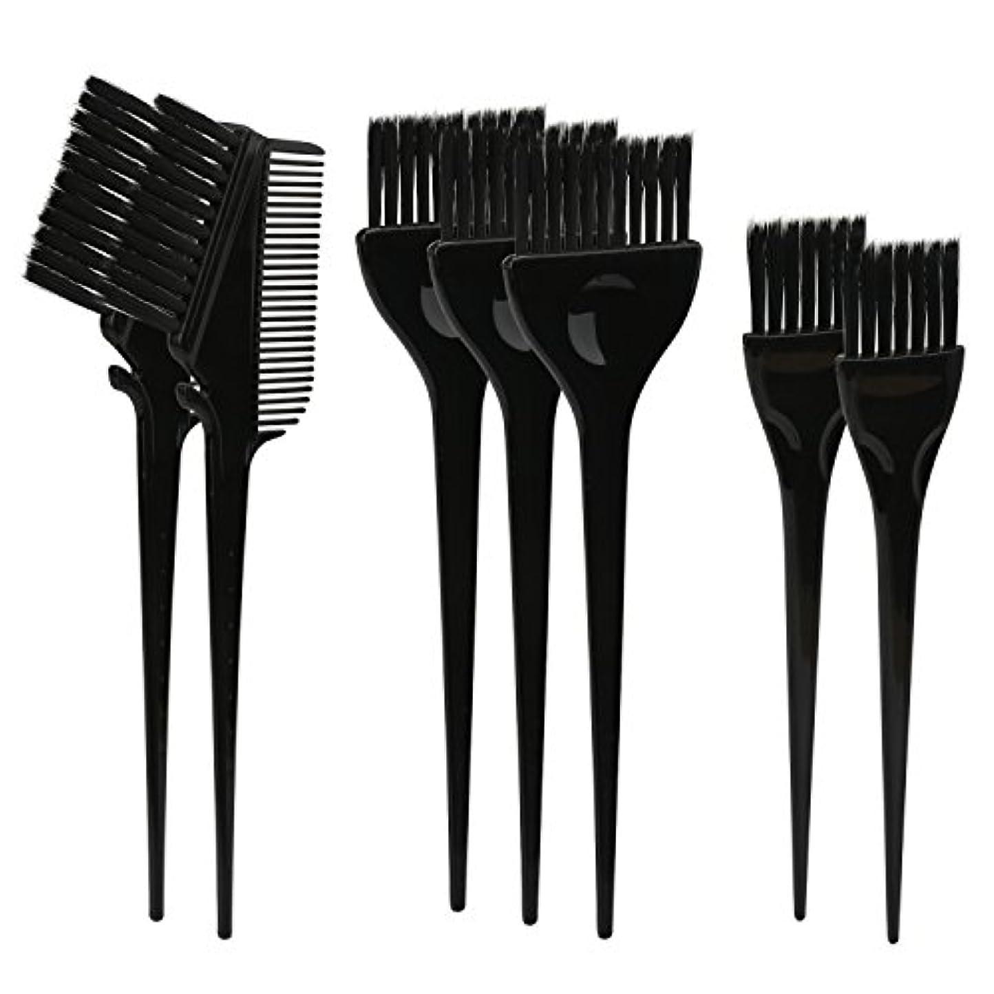 型飢饉まつげSegbeauty ヘアカラー DIY プロ髪染め用のブラシ 7pcs 美髪師用 サロン工具セット