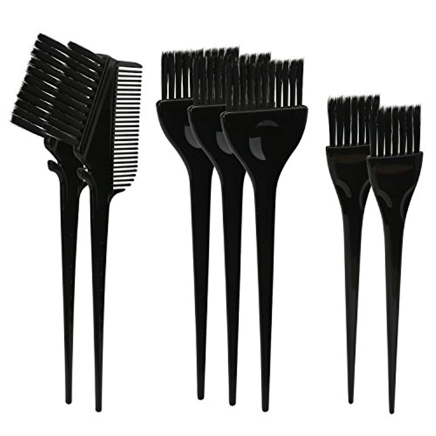 飛ぶ医師割れ目Segbeauty ヘアカラー DIY プロ髪染め用のブラシ 7pcs 美髪師用 サロン工具セット