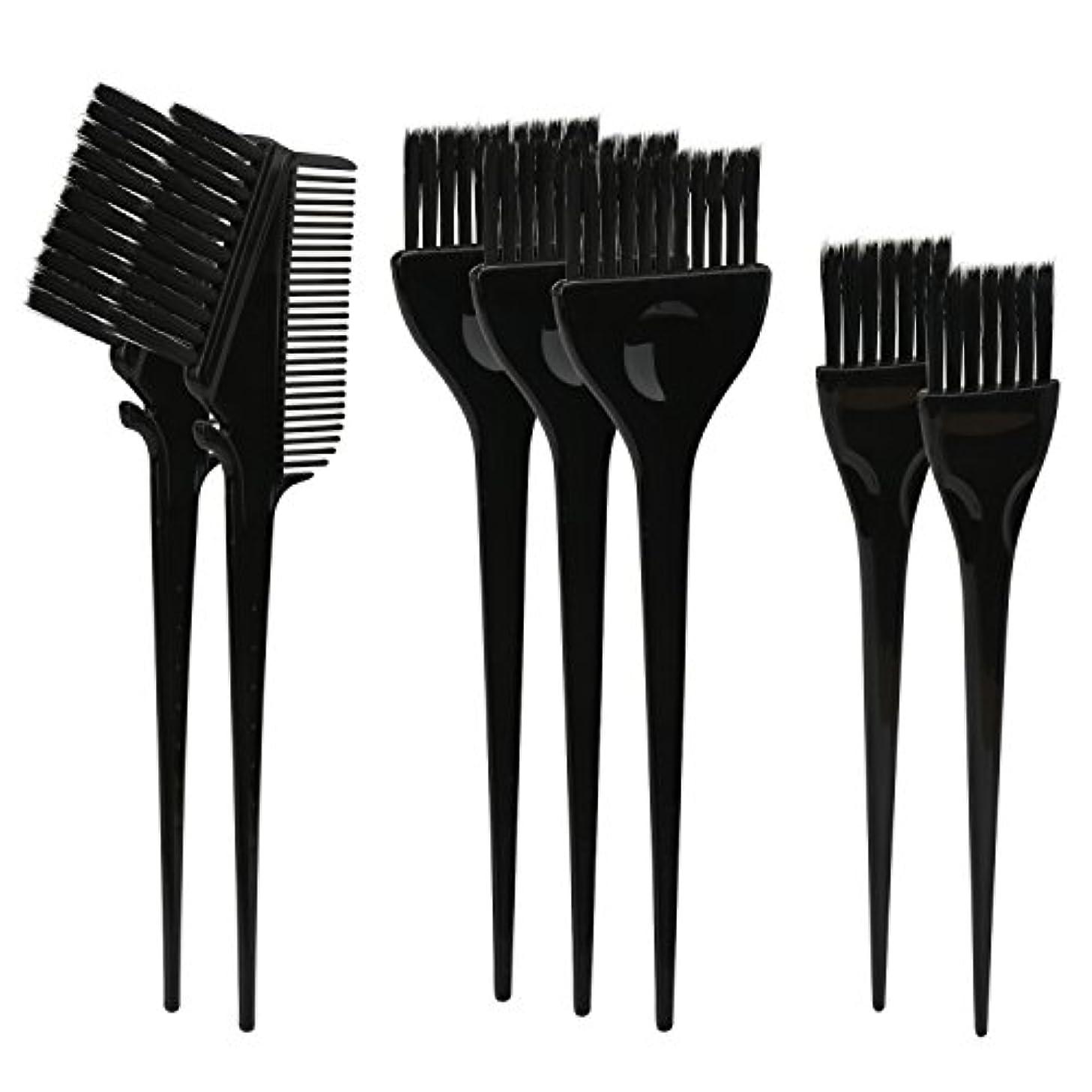 静かに赤外線に負けるSegbeauty ヘアカラー DIY プロ髪染め用のブラシ 7pcs 美髪師用 サロン工具セット