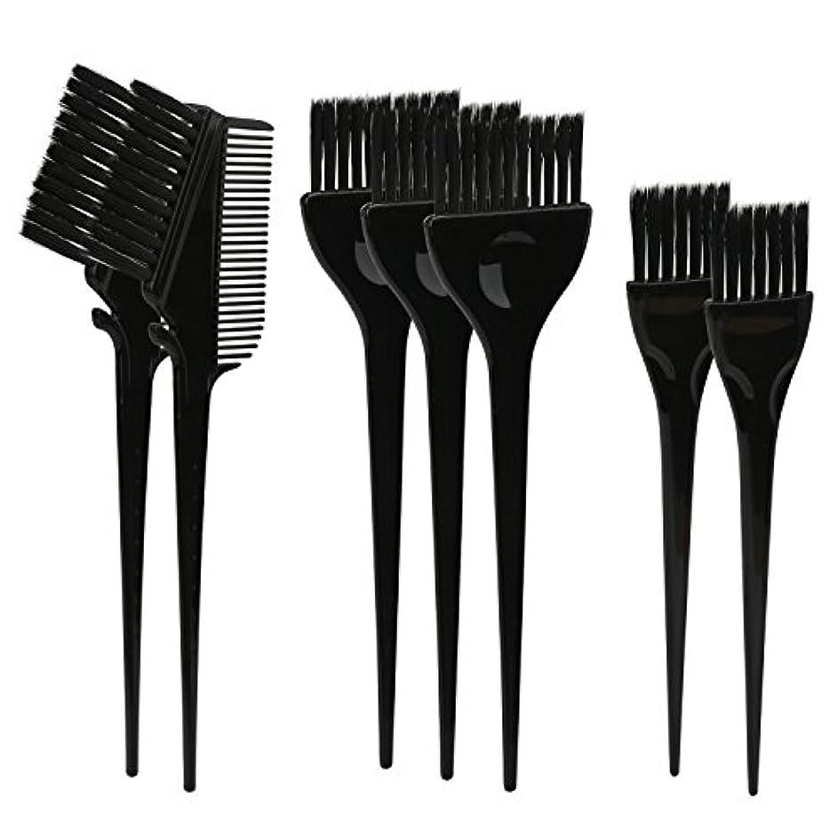 代替公爵お酢Segbeauty ヘアカラー DIY プロ髪染め用のブラシ 7pcs 美髪師用 サロン工具セット