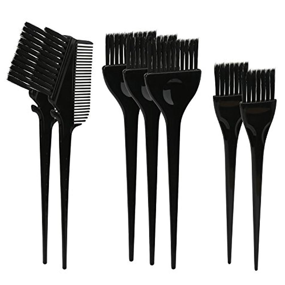 再生可能グレートオーク夜間Segbeauty ヘアカラー DIY プロ髪染め用のブラシ 7pcs 美髪師用 サロン工具セット