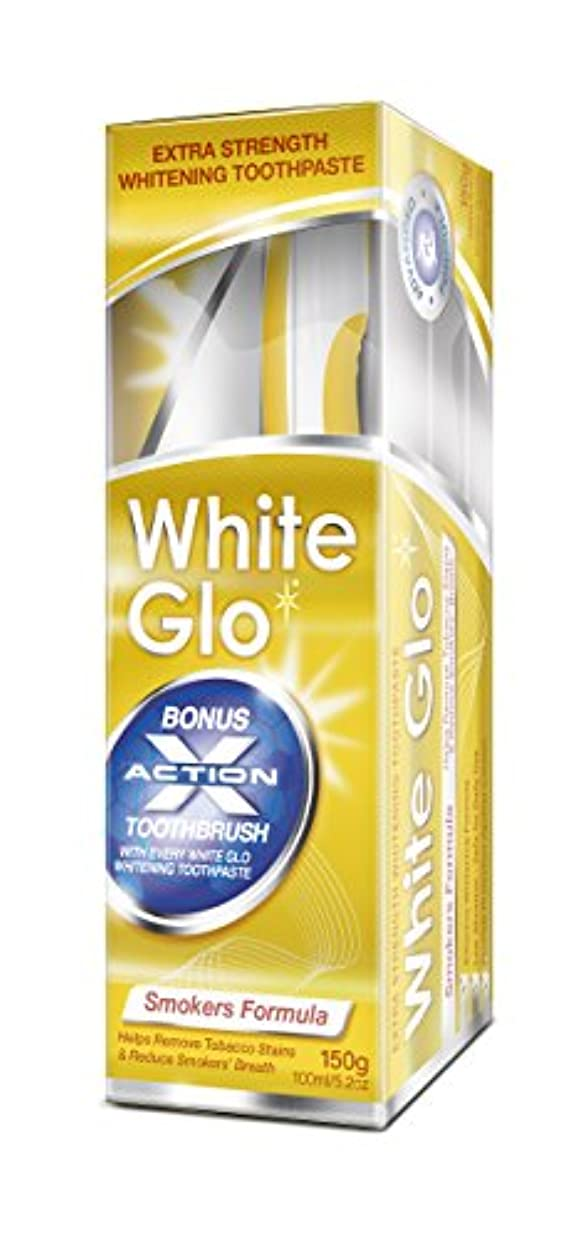 パッド味前にWhite Glo Smokers' Formula Whitening Toothpaste
