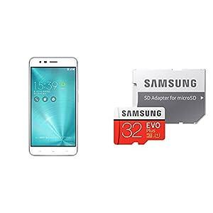 ASUS ZenFone Zoom S SIMフリースマートフォン (シルバー/5.5インチ)【日本正規代理店品】+ Samsung microSDカード 32GB EVO Plusセット