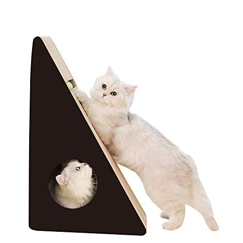 RAKU『つめとぎ ダンボール 三角型 ボール付き』
