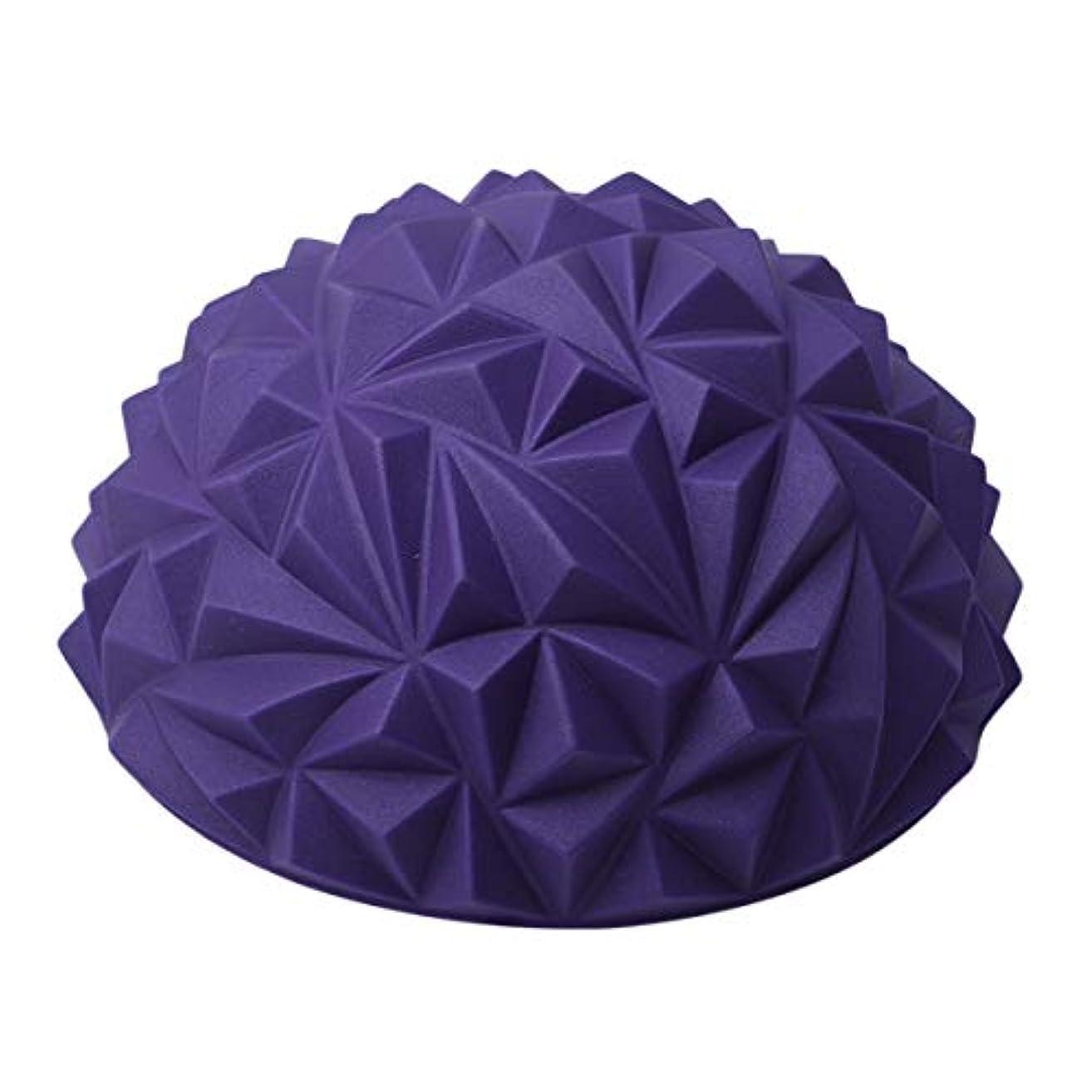 くそー貫入広告主Winwinfly 早期教育感覚バランストレーニングヨガフィットネス筋肉リラクゼーション半円形足マッサージボール,紫の