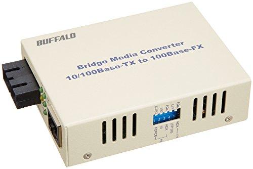 BUFFALO 光メディアコンバータ 2芯マルチモード 100BASE-TX:100BASE-FX(SC) 2km LTR2-TX-MFC2R