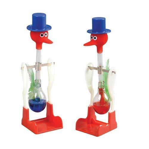 ドリンキングバード 水飲み鳥 平和鳥 ペア(赤&青)