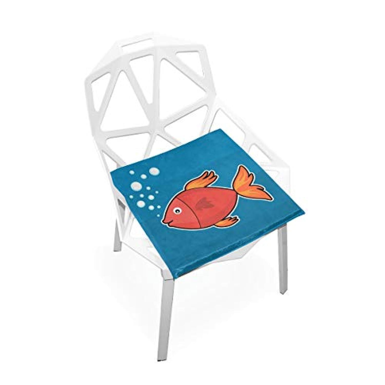 座布団 低反発 魚 赤い 海 ビロード 椅子用 オフィス 車 洗える 40x40 かわいい おしゃれ ファスナー ふわふわ fohoo 学校
