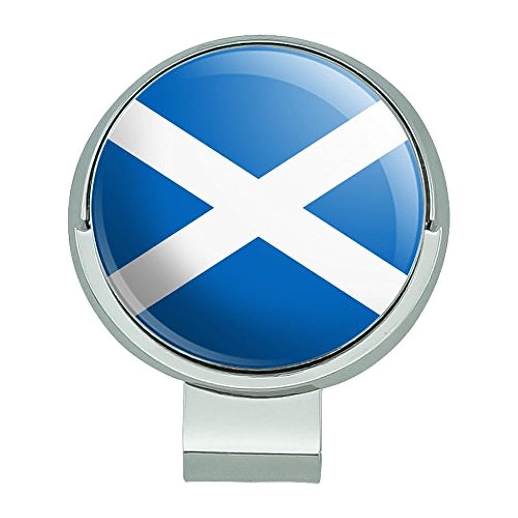 アンケートウェブ勝利したスコットランドスコットランド国旗磁気ボールマーカー付きゴルフハットクリップ