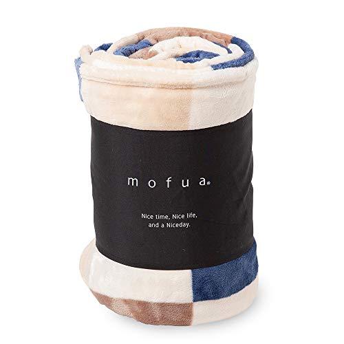 mofua(モフア) 毛布 ダブル ふんわりあったか 静電気防止加工 マイクロファイバー 1年間品質保証 洗える 180×200cm チェック柄 ブラウン 500003C2