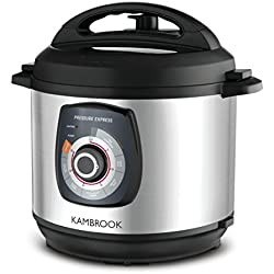 Kambrook KPR620BSS Pressure Cooker, Brushed Stainless Steel