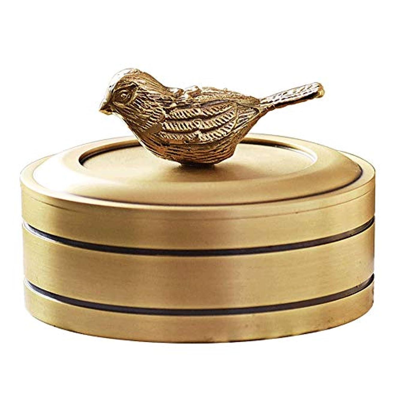 観客線形重さ銅の宝石箱ファッションギフトリビングルームホームデコレーション装飾品でカバー純粋な銅灰皿