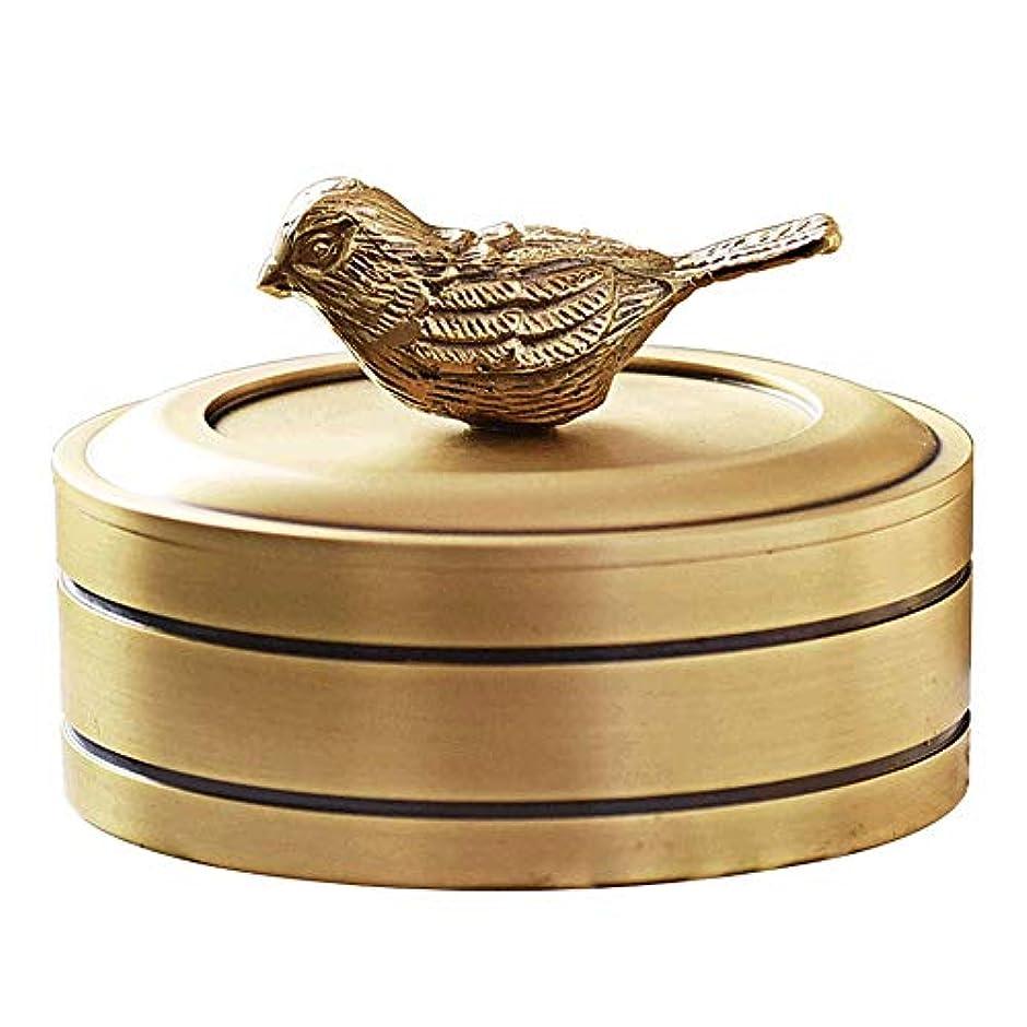 嵐の鎮痛剤ジャベスウィルソン銅の宝石箱ファッションギフトリビングルームホームデコレーション装飾品でカバー純粋な銅灰皿
