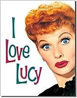 なまけ者雑貨屋 I Love Lucy - Lucy's Faceメタルプレート ナンバープレート アンティーク な ブリキ の 看板,壁画装飾