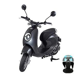 【Amazon.co.jp限定】 電動バイク XEAM notte V2 メタルグレー【限定特典】 専用ヘルメット ライトブルー XM-AZNMGYHGLBL