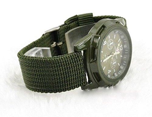 【p forest】 ミリタリー 腕時計 クロノグラフ アーミー / クオーツ / メンズ レディース / サバゲー ( カーキ )
