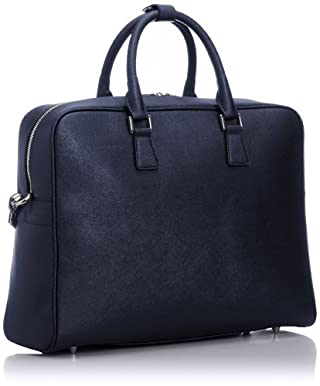 Leather Briefcase 1332-699-4009: Navy
